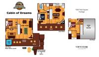 UNIT LAYOUT at CABIN OF DREAMS in Sevier County TN