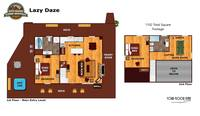 UNIT LAYOUT at LAZY DAZE in Sevier County TN