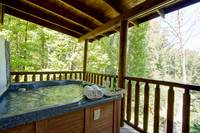 HOT TUB at TRANQUIL MOMENTS in Sevier County TN