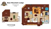 UNIT LAYOUT at BEAR MOUNTAIN LODGE in Sevier County TN