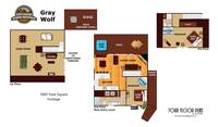UNIT LAYOUT at GRAY WOLF in Sevier County TN