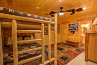 BEDROOM 3 (FULL BUNK BEDS) at ABOVE THE REST in Sevier County TN