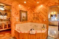 JACUZZI at SWEET RETREAT in Sevier County TN