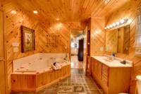 BATHROOM W/ JACUZZI at SWEET RETREAT in Sevier County TN