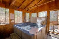 HOT TUB at SWEET RETREAT in Sevier County TN