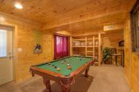 POOL TABLE at SWEET RETREAT in Sevier County TN