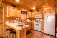 KITCHEN at BEAR TOP HIDEAWAY in Pigeon Forge TN