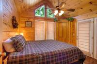 BEDROOM at BEAR TOP HIDEAWAY in Pigeon Forge TN