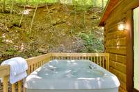 HOT TUB at A MARY CABIN in Sevier County TN