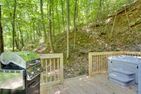 DECK at A MARY CABIN in Sevier County TN
