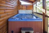 HOT TUB - MAIN LEVEL BACK DECK (SCREENED) at GRINNIN BEARS in Pigeon Forge TN