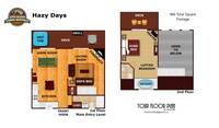 UNIT LAYOUT at HAZY DAYS in Sevier County TN