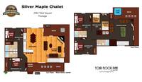 UNIT LAYOUT at SILVER MAPLE CHALET in Gatlinburg TN