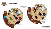 UNIT LAYOUT at CABIN FEVER in Gatlinburg TN