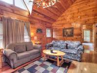 LIVING AREA at A HIBERNATION STATION in Pigeon Forge TN