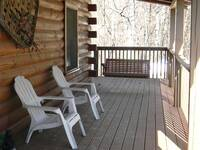 Plenty of seating on the front porch to enjoy the fresh mountain air