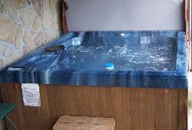 Over sized hot tub