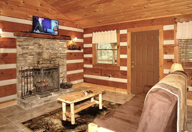 Bear Necessities wood burning fireplace