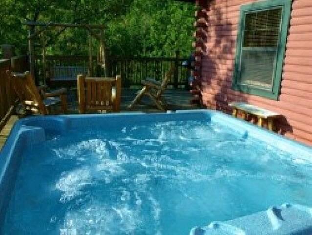 bubbly hot tub