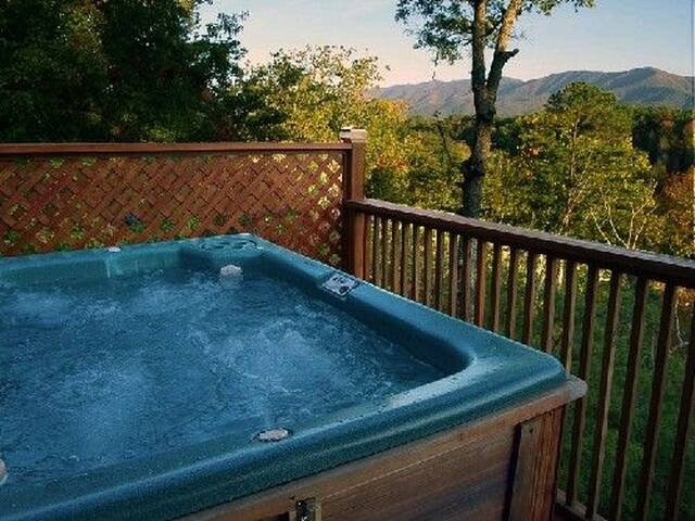Warm and soothing hot tub