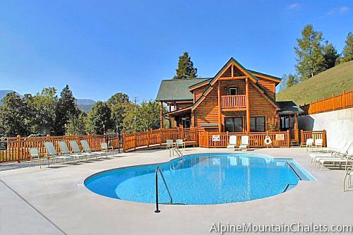 Area Pigeon Forge Cabin Rental Enchanted View 1 Bedroom