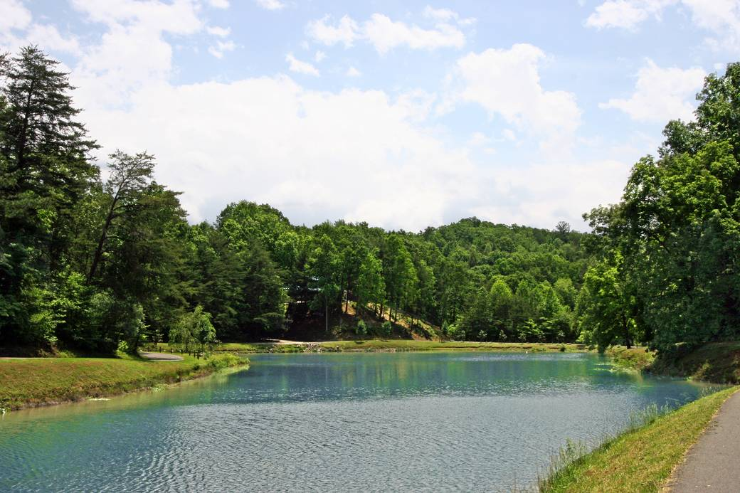 Gray wolf 2 bedroom cabin rental in for Smoky mountain cabins with fishing ponds