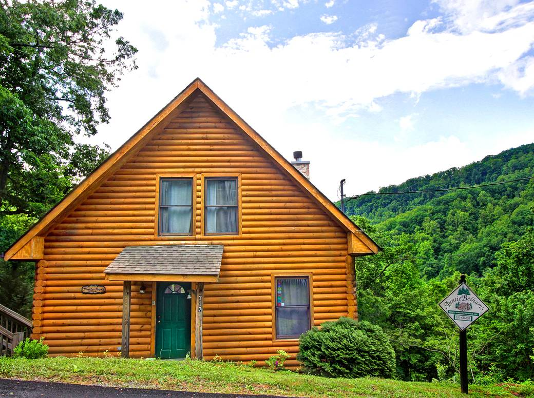 log tr in blessed of mountain measure beyond exterior rentals cabins authentic gatlinburg cabin