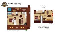 UNIT LAYOUT at GOTTA GETAWAY in Pigeon Forge TN