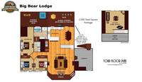 UNIT LAYOUT at BIG BEAR LODGE in Sevier County TN