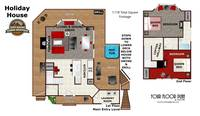 UNIT LAYOUT at XHOLIDAY HOUSE in Gatlinburg TN