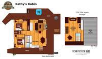 UNIT LAYOUT at KATHYS KABIN in Sevier County TN