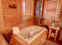JACUZZI (IN BEDROOM) at GOT MOOSE in Sevier County TN