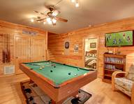 POOL TABLE at AMAZING MTN HIDEAWAY in Sevier County TN