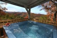 HOT TUB at WILDWOOD in Sevier County TN
