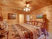 BEDROOM 1 (MAIN LEVEL) at BEAR CUB HIDEAWAY in Sevier County TN