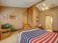BEDROOM 2 (UPSTAIRS) at FLAMING ARROW in Sevier County TN