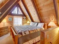 BEDROOM 1 (UPSTAIRS/LOFT) at HEATHERS HIDEAWAY in Sevier County TN