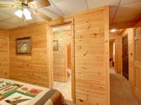 BEDROOM 3 (DOWNSTAIRS) at HEATHERS HIDEAWAY in Sevier County TN
