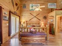 BEDROOM 1 (MASTER BEDROOM / UPSTAIRS) at BLACK BEAR HOLLER in Gatlinburg TN