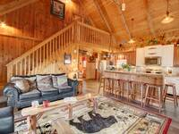 LIVING AREA at HOME SWEET HOME in Sevier County TN