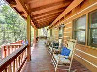 BACK DECK (ROCKERS) at AMBERWOOD in Sevier County TN