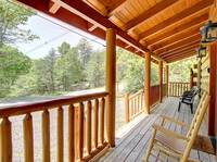 FRONT DECK at BEAR CUB HIDEAWAY in Sevier County TN