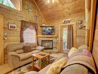 LIVING AREA at MISS BEE HAVEN in Sevier County TN