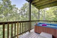 HOT TUB (DOWNSTAIRS) at ABOVE THE TREE TOPS in Pigeon Forge TN