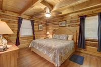 BEDROOM 1 (MAIN LEVEL) at AMBERWOOD in Sevier County TN
