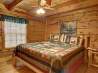 BEDROOM 1 (MAIN LEVEL) at HIDDEN TREASURES in Sevier County TN