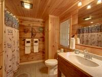 FULL BATHROOM 1 (MAIN LEVEL) at HIDDEN TREASURES in Sevier County TN