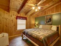 BEDROOM 2 (UPSTAIRS) at HIDDEN TREASURES in Sevier County TN