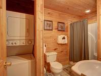 BATHROOM / WASHER & DRYER at HILLSIDE HAVEN in Sevier County TN