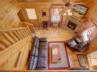 MAIN LEVEL FROM LOFT at SIMPLE COMFORTS in Sevier County TN